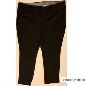 Vince Camuto Black Slacks W/ Front Pockets size 8